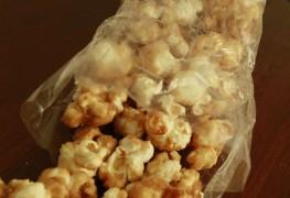 Maïs soufflé enrobé de notre délicieux caramel véritable.