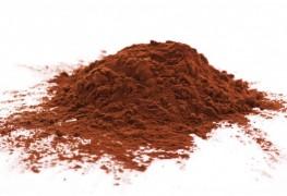 Cacao réduit en poudre.